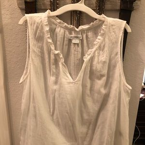 Liz Claiborne large white sleeveless top